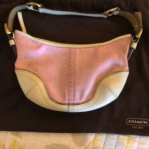 Pink and White Coach Purse
